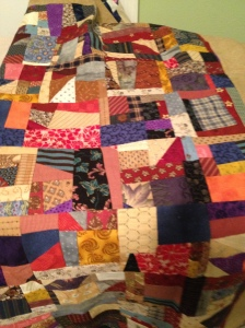 again from Bonnie Hunter's quiltville blog--made completely from small scraps that could not be cut down to usable squares.