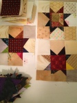 These also come from Bonnie Hunter's quiltville blog.  So scrappy, and so wonky.  I love them!